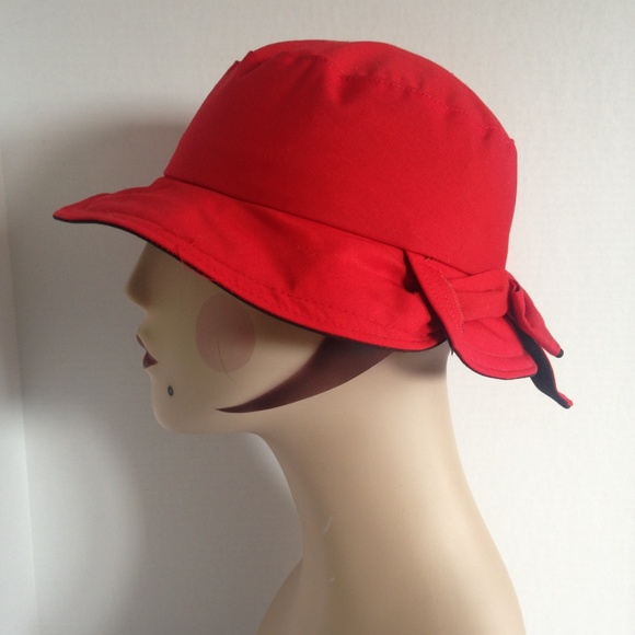 2faefc6cf1a Yves Saint Laurent for Peerless Red Bucket Hat. M 5bec495a34a4ef43662f8979